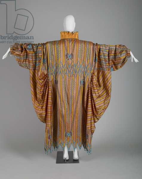 Evening dress, c.1985 (back view), Silk taffeta, bead, silk thread, Zandra Rhodes, England