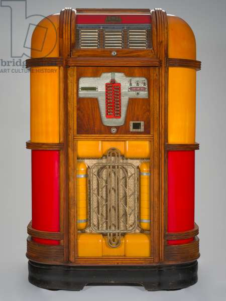 Upright jukebox manufactured by Rock-Ola Manufacturing Corporation, 1939