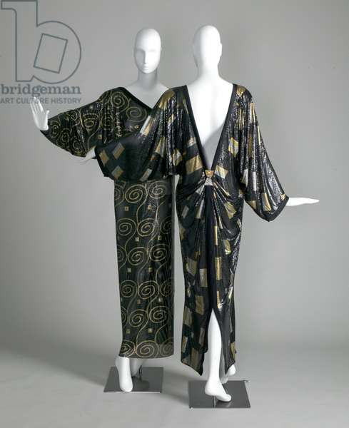 Two Versace evening dresses