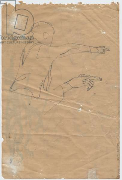 Mose Wright, 1955 (pencil on paper)