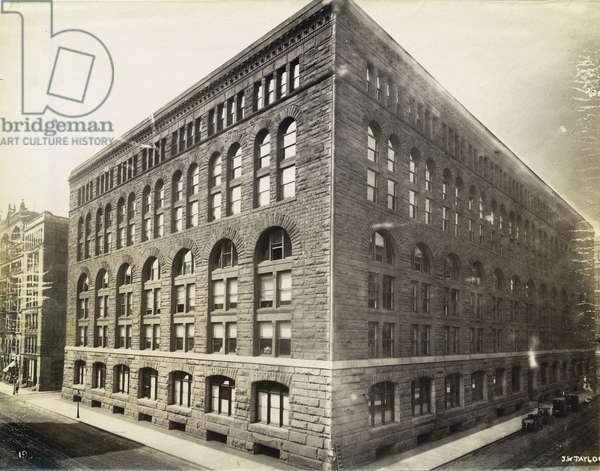 Marshall Field's Wholesale Store (b/w photo)