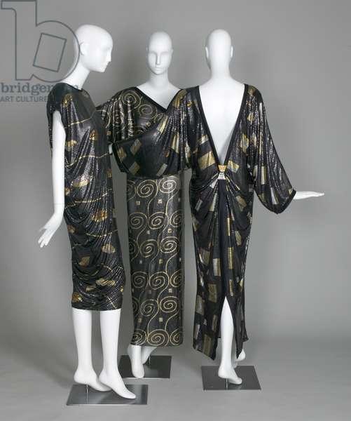 Three Versace evening dresses