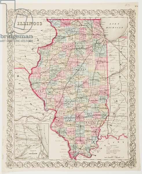 Map of Illinois, 1855