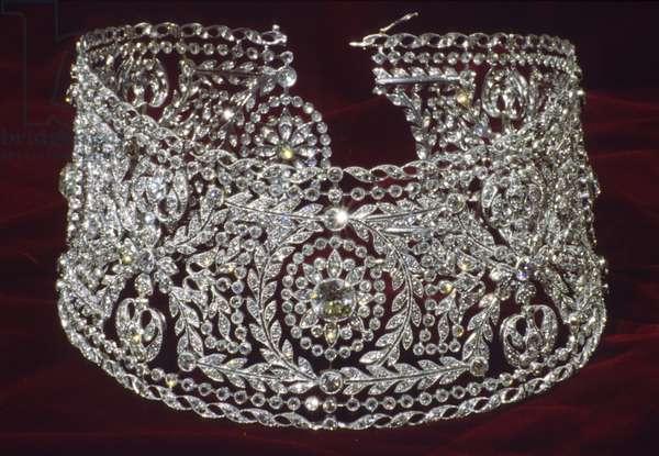 Bertha Palmer's diamond choker necklace, 1900, Diamond, platinum.