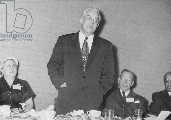 Clifford R. Shaw addressing the Federation of Community Committees, Chicago, c.1950 (b/w photo)