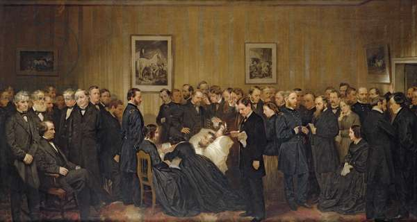 The Death of Lincoln, 1868 (oil on canvas)