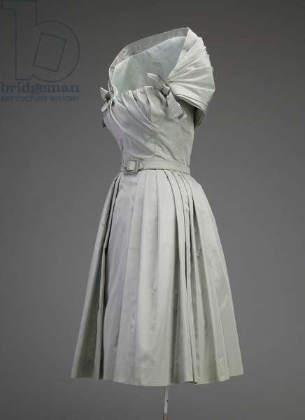 Cocktail dress, ca.1955 (side oblique view), Silk taffeta, Christian Dior, Paris