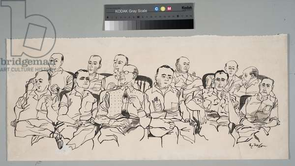 12 Jurors, 1955 (ink on paper)