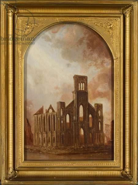 Saint Paul's Universalist Church after the Chicago Fire of 1871, 1872 (oil on canvas)