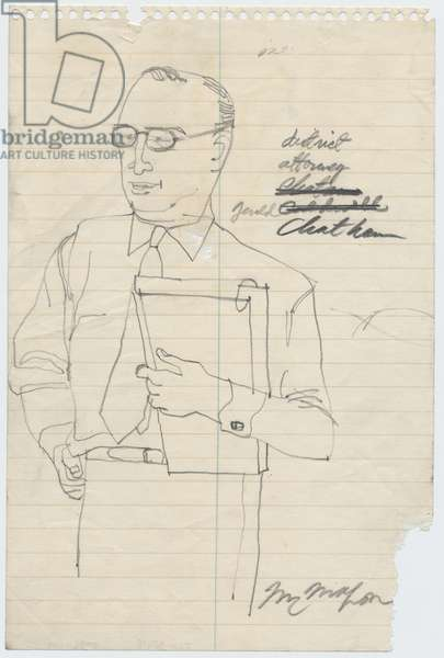 Gerald Chatham, 1955 (pencil on paper)