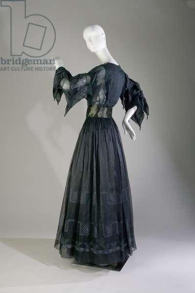 Evening dress, c.1979 (side view), Silk organza, satin and cord, Zandra Rhodes, England