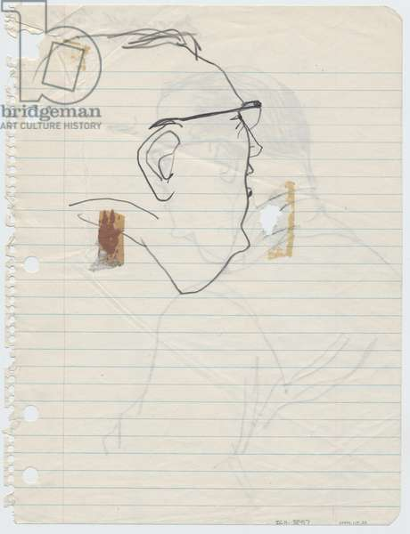 Juror's Profile, 1955 (pencil on paper)