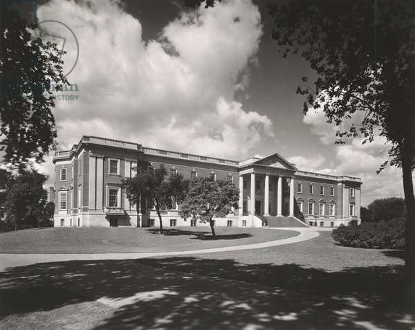 Chicago Historical Society Building from the rear, 1932 (b/w photo)