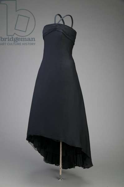 Cocktail dress, 1955 (front oblique view), Silk crepe, Christian Dior, Paris