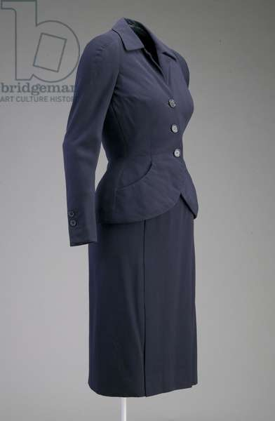Ensemble, 1951 (side oblique view), Wool, Christian Dior, Paris