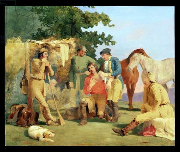 Scouts in the French and Indian Wars (oil on canvas)