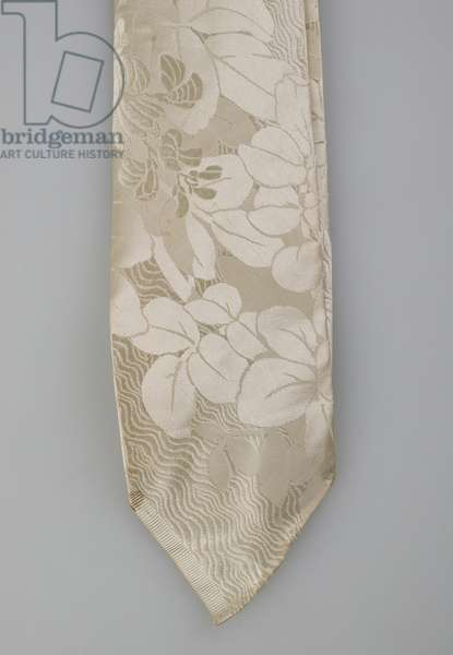 Necktie, 1853 (detail view), Silk brocade, Maker unknown