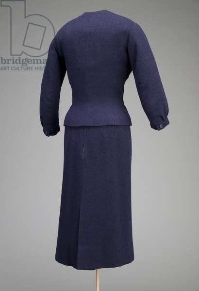 Dress, 1954 (back oblique view), Wool crepe, Christian Dior, Paris