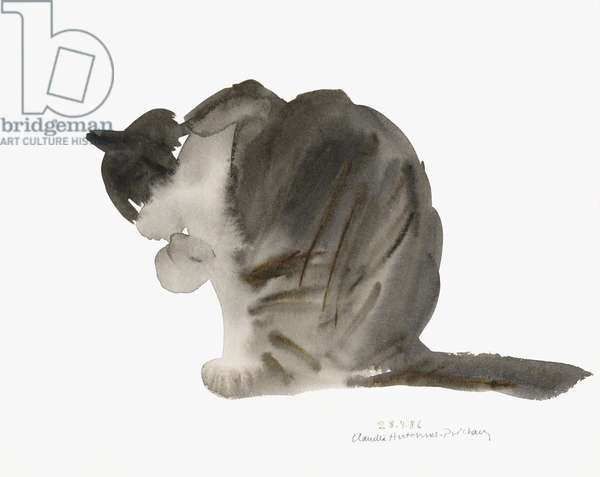 Cat, 1985 (watercolour)