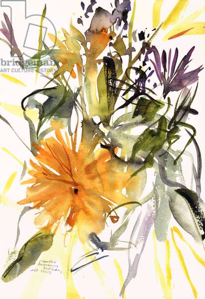 Marigold and Other Flowers, 2004 (watercolour)