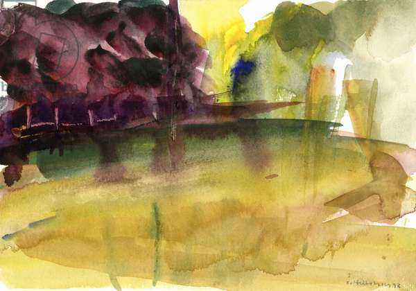 Parc in Normandy, 1992 (watercolour)