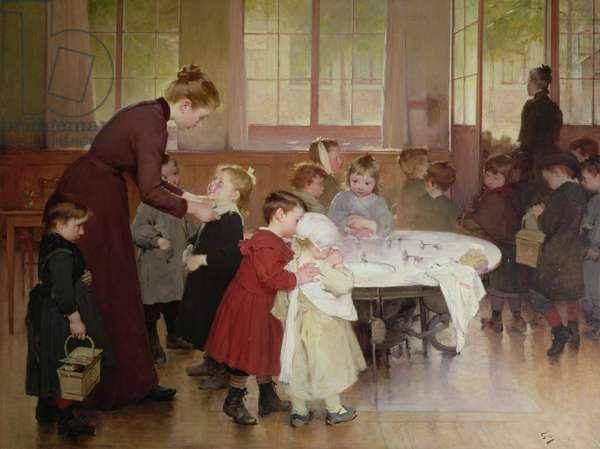 Nursery school, 1898 (oil)