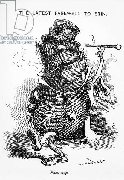 The Latest Farewell to Erin, from 'Punch', c.1880 (engraving)