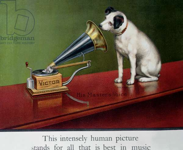 Advertisement for Victor gramophones, from 'The Theatre', c.1910 (colour litho) (detail of 189520)