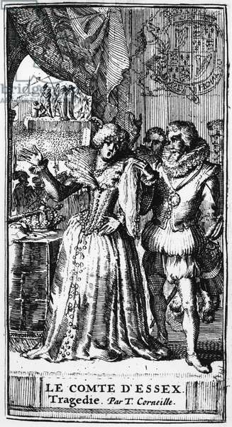 Illustration from 'Le Comte d'Essex' by Thomas Corneille (1625-1709) published in 1680 (engraving) (b/w photo)