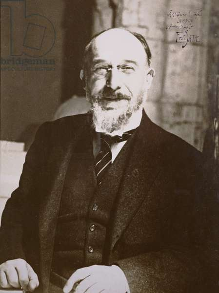 Erik Satie (1866-1925), early 20th century (b/w photo)