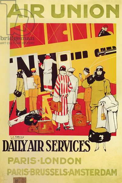 Poster advertising Air Union, c.1925 (colour litho)