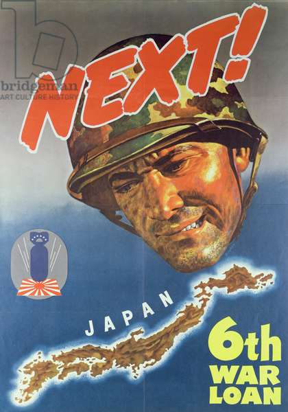 'Next', poster advertising the 6th American 2nd World War Loan, 1944 (colour litho)