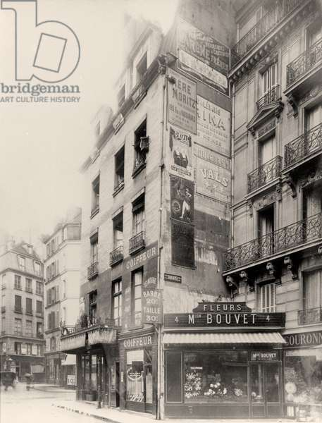 Maison Bouvet florist, billboards and advertisements, Paris (b/w photo)