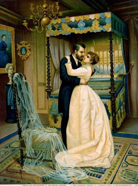 Bride and Bridegroom (colour litho)