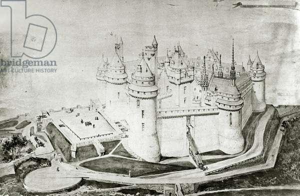 Château de Pierrefonds (pen & ink on paper)