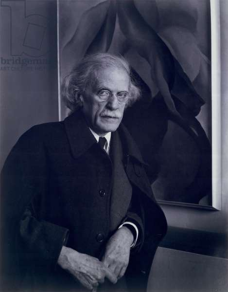 Portrait of Alfred Stieglitz (1864-1946) 1934 (b/w photo)