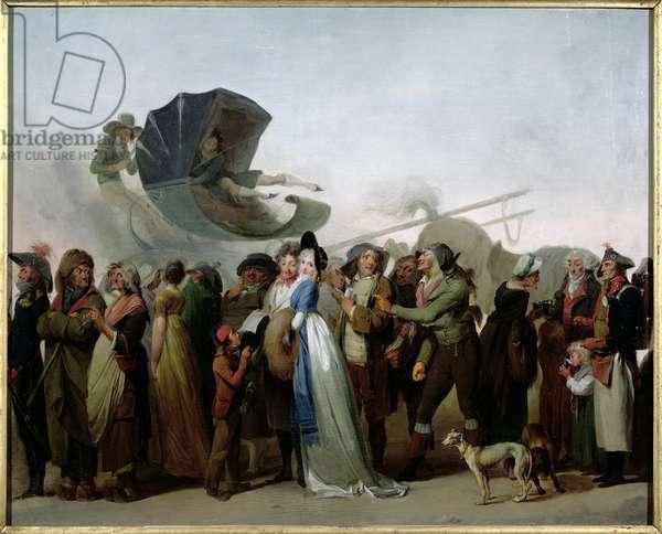 'La Marche Incroyable' 1795 (oil on canvas)