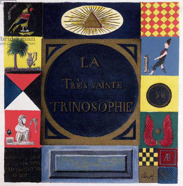 Ms 2400 Frontispiece of 'La Tres Sainte Trinosophie' attributed to the Comte de Saint-Germain (1696-1784) (w/c on paper)