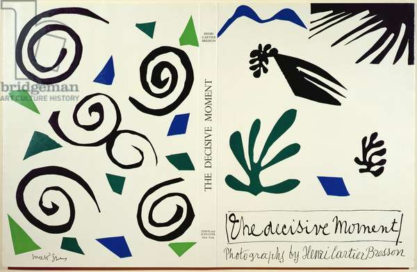Cover of 'The Decisive Moment', book of Photos by Henri Cartier-Bresson (1908-2004), published in America by Simon & Schuster, 1952 (colour litho)