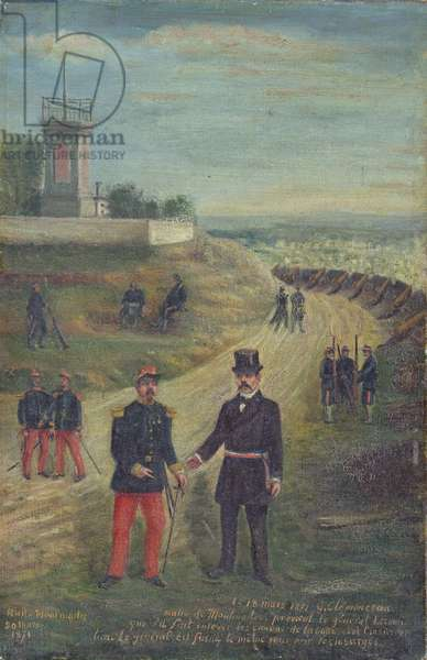 Georges Clemenceau (1841-1929) as Mayor of Montmartre 18th March 1871 (oil on canvas)