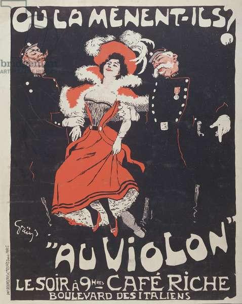 Poster for the Café Riche, c.1896 (colour litho)