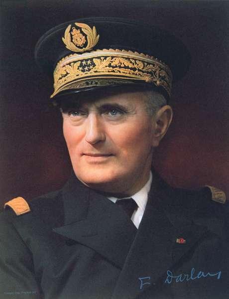 Admiral Francois Darlan (1881-1942) (colour litho)