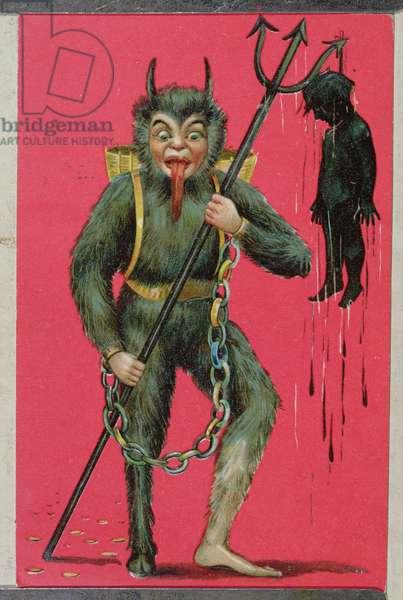 Postcard depicting 'Krampuss', 1906 (colour litho)