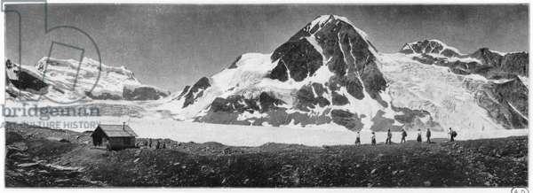 Grand Combin, c.1900 (b/w photo)