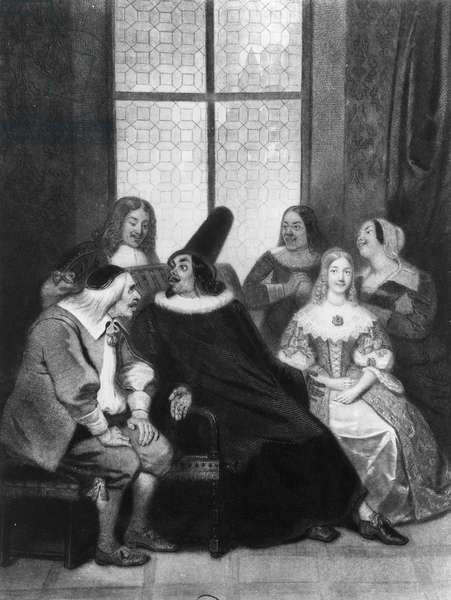 Scene from The doctor in spite of himself, by Moliere (1622-1673), engraving, 19th century