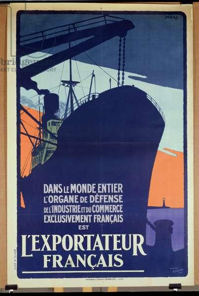 Poster advertising 'L'Exportateur Francais', c.1930-40 (colour litho)