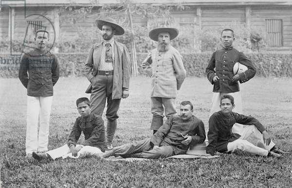 The Pavie mission, Haut-Mekong, Indochina 1890 (photo)