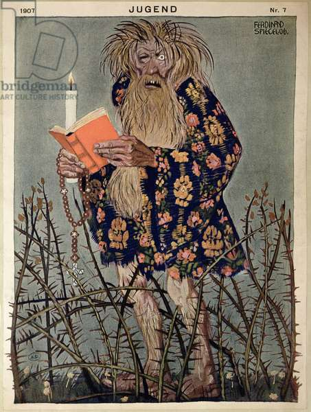 A Troll, illustration from 'Jugend' magazine, published in Munich 1907 (colour litho)