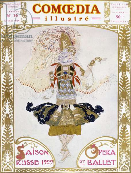 Front cover of Comoedia, 1909 (colour litho)