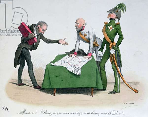 Caricature of the Congress of Vienna 1814-15 (colour litho)
